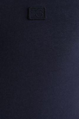 With linen: jersey polo shirt with contrasts, NAVY, detail