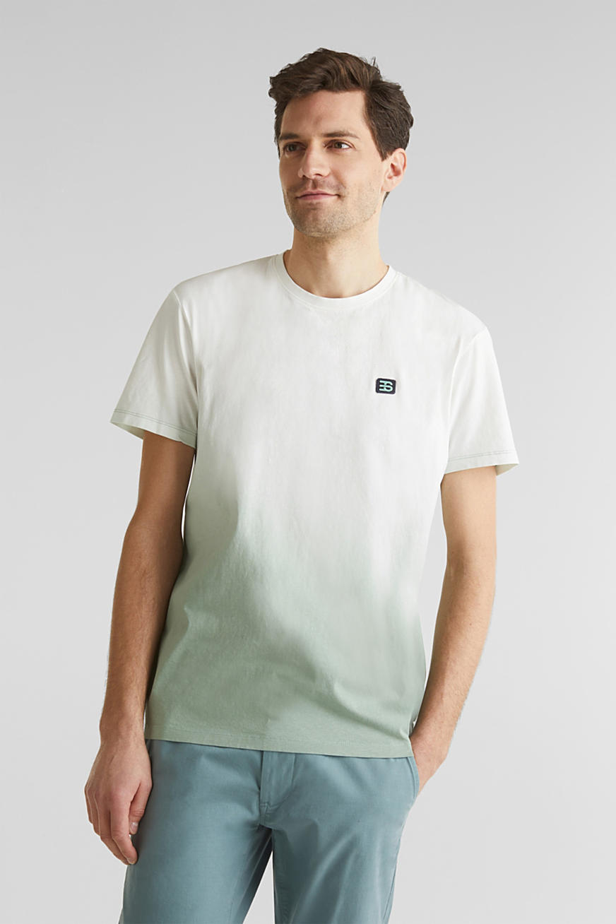 Jersey T-shirt with graduated colours, 100% cotton