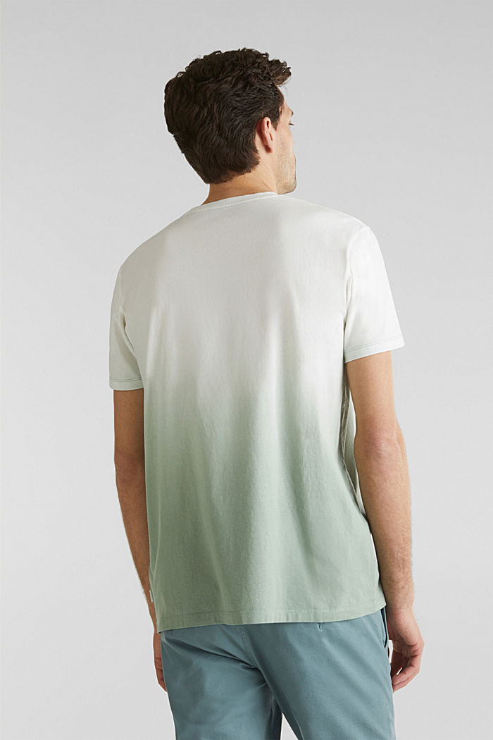 Jersey T-shirt with graduated colours, 100% cotton, TEAL GREEN, detail image number 3