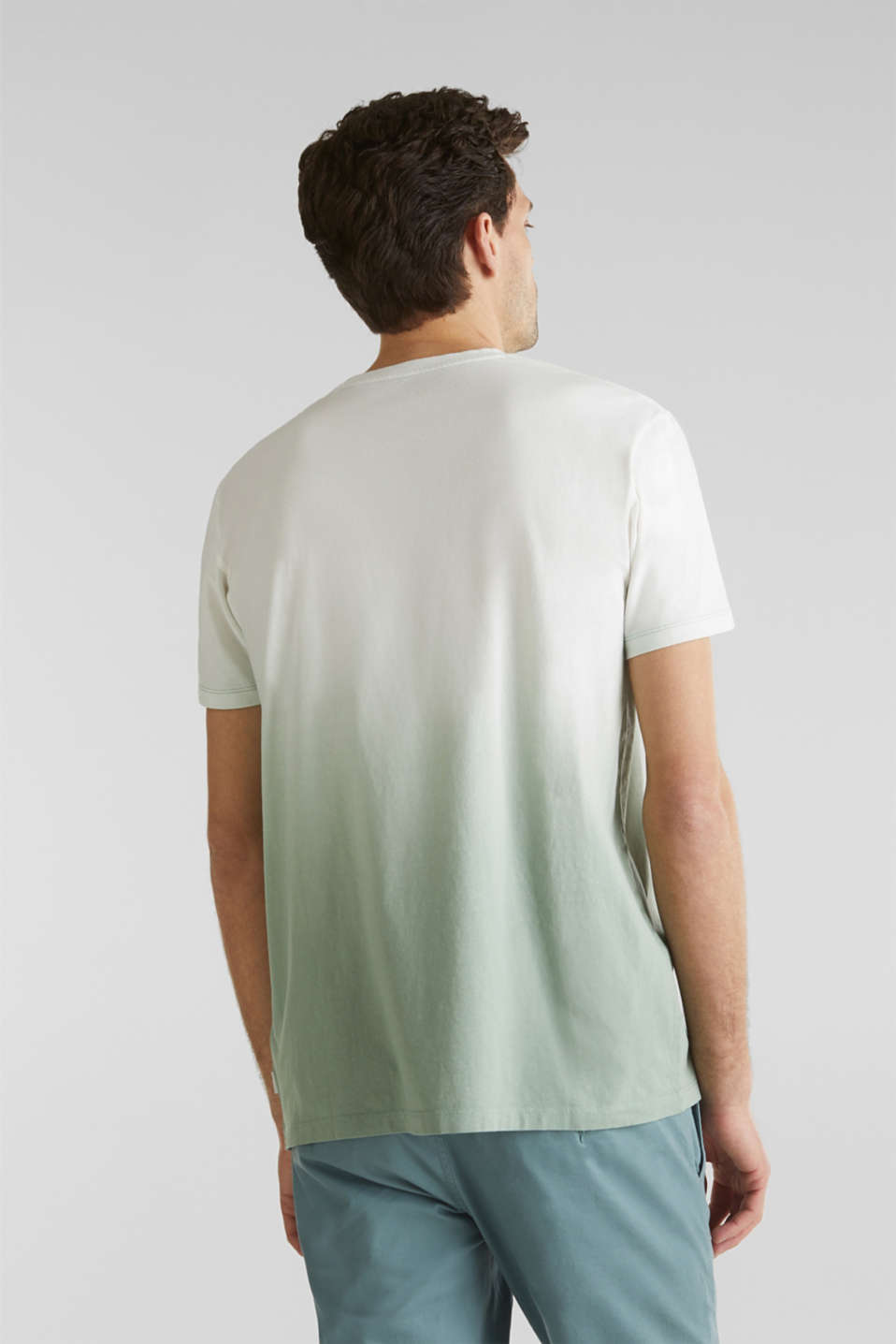 Jersey T-shirt with graduated colours, 100% cotton, TEAL GREEN 2, detail image number 3
