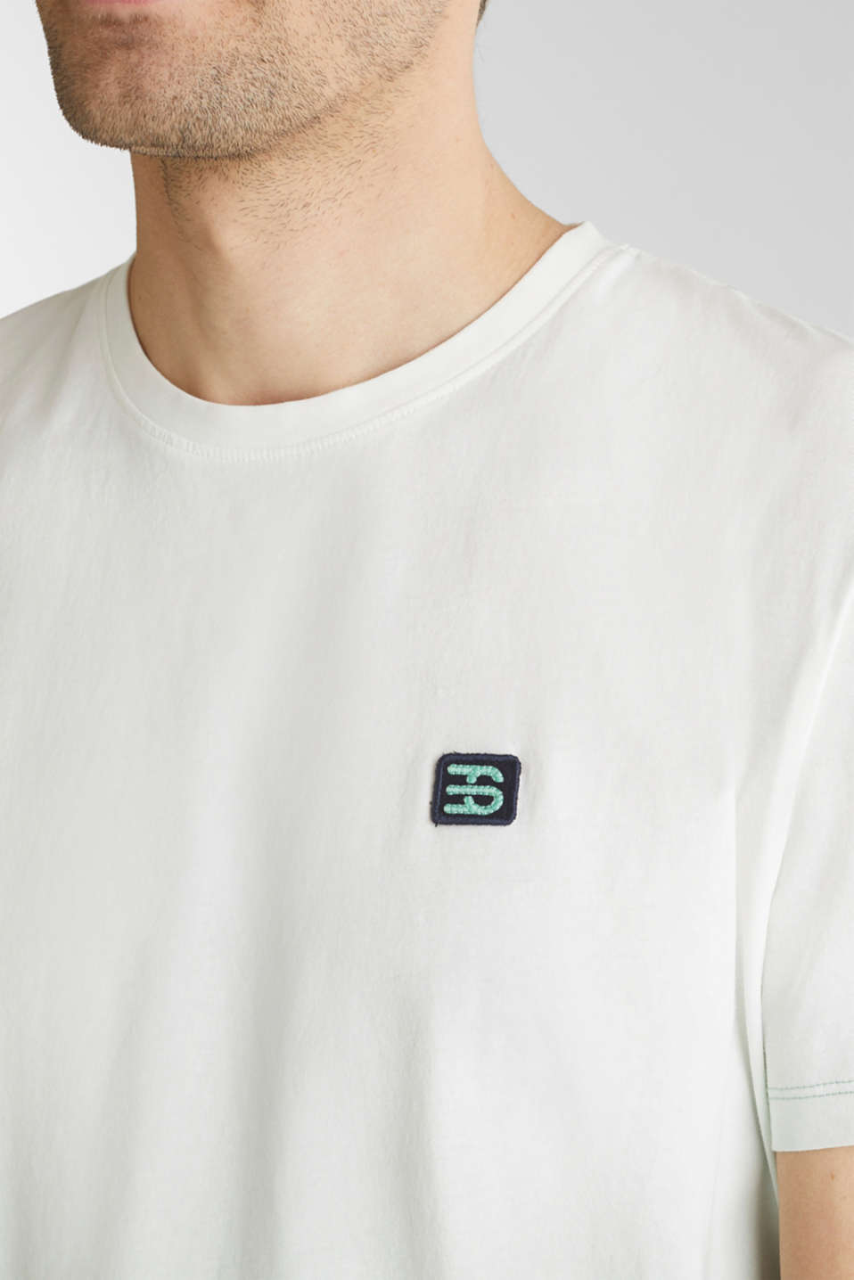 Jersey T-shirt with graduated colours, 100% cotton, TEAL GREEN 2, detail image number 1
