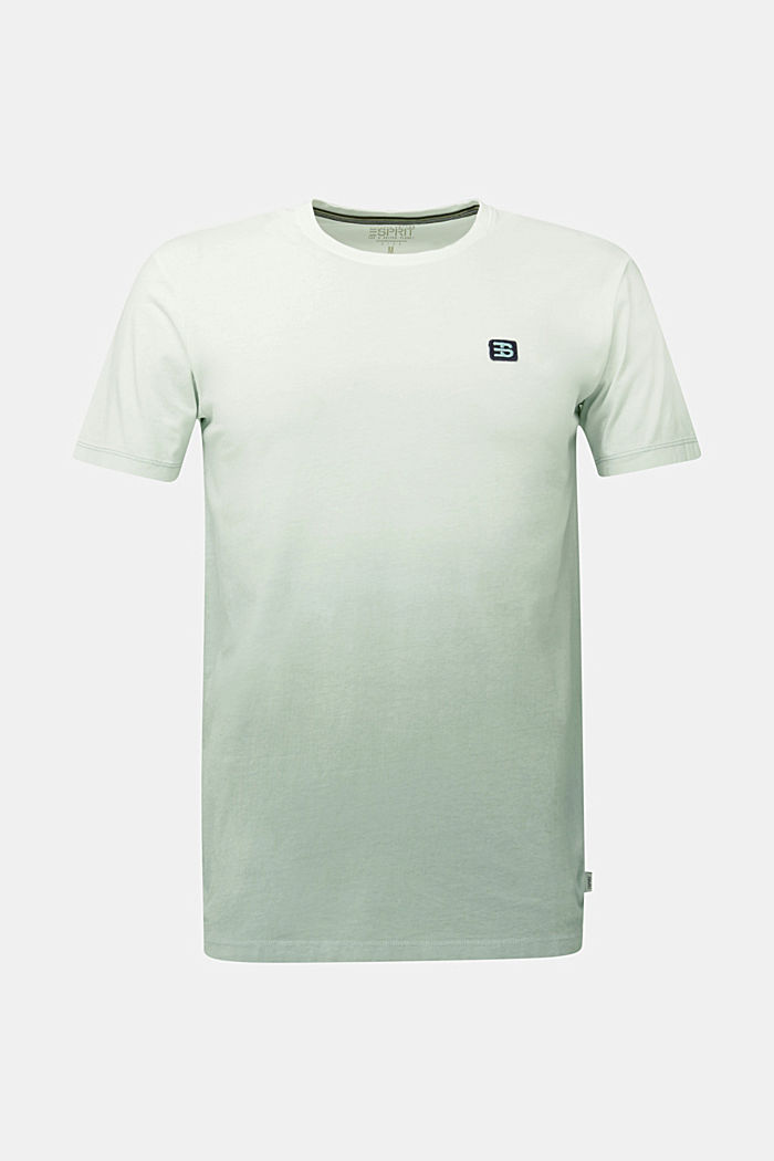 Jersey T-shirt with graduated colours, 100% cotton, TEAL GREEN, detail image number 8