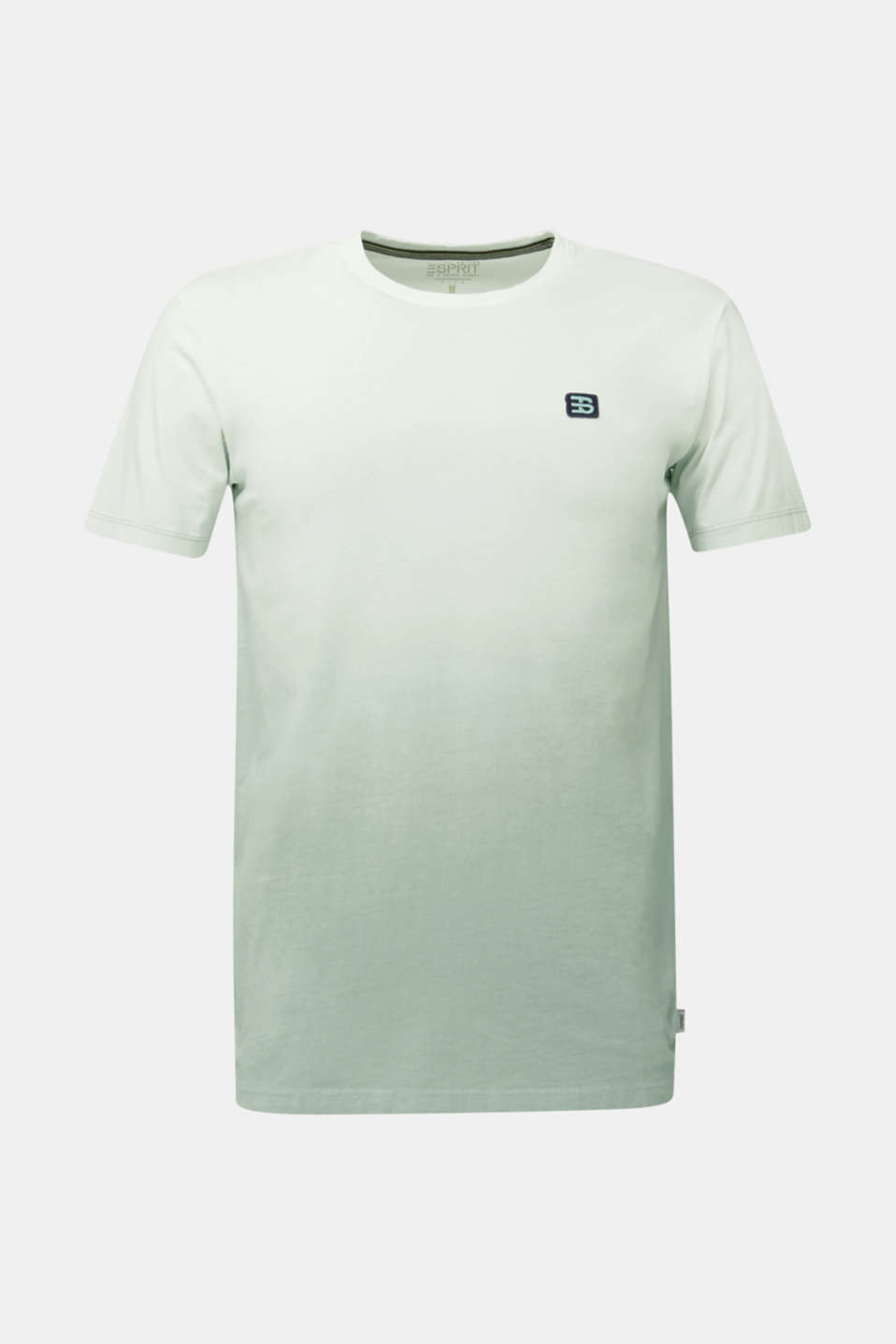 Jersey T-shirt with graduated colours, 100% cotton, TEAL GREEN 2, detail image number 8