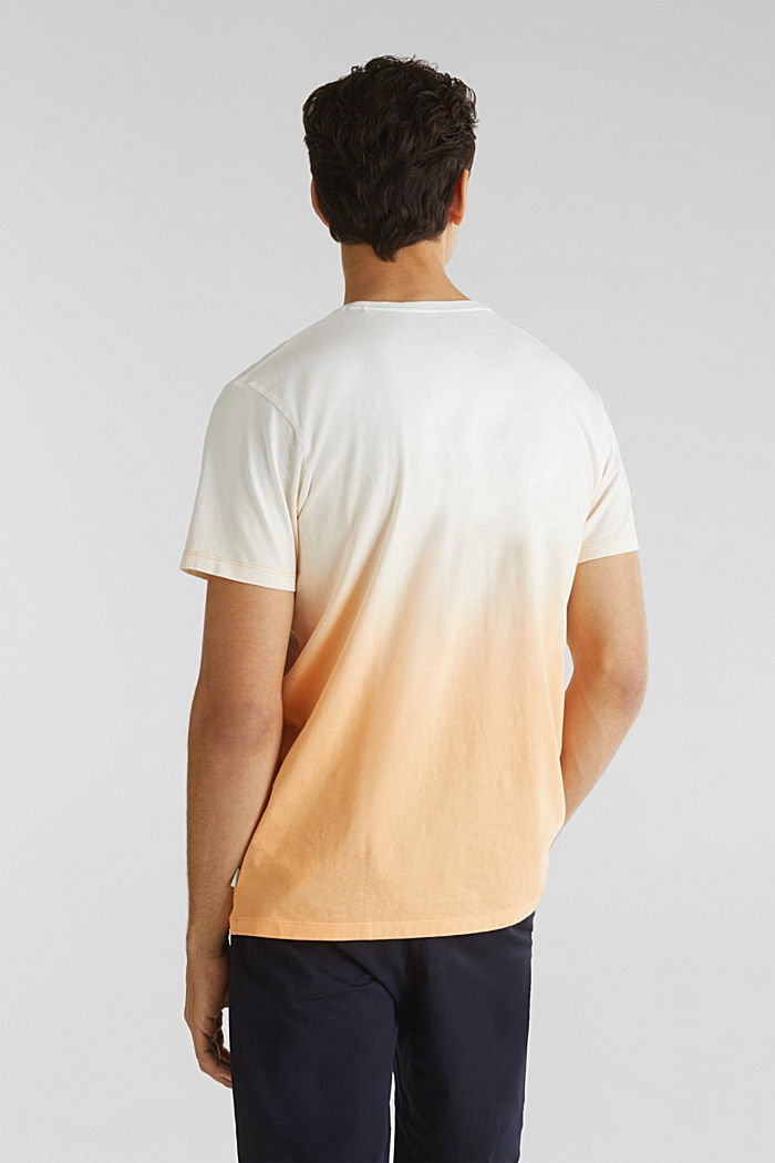 Jersey T-shirt with graduated colours, 100% cotton, PEACH, detail image number 2