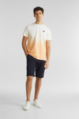 Jersey T-shirt with graduated colours, 100% cotton, PEACH 2, detail