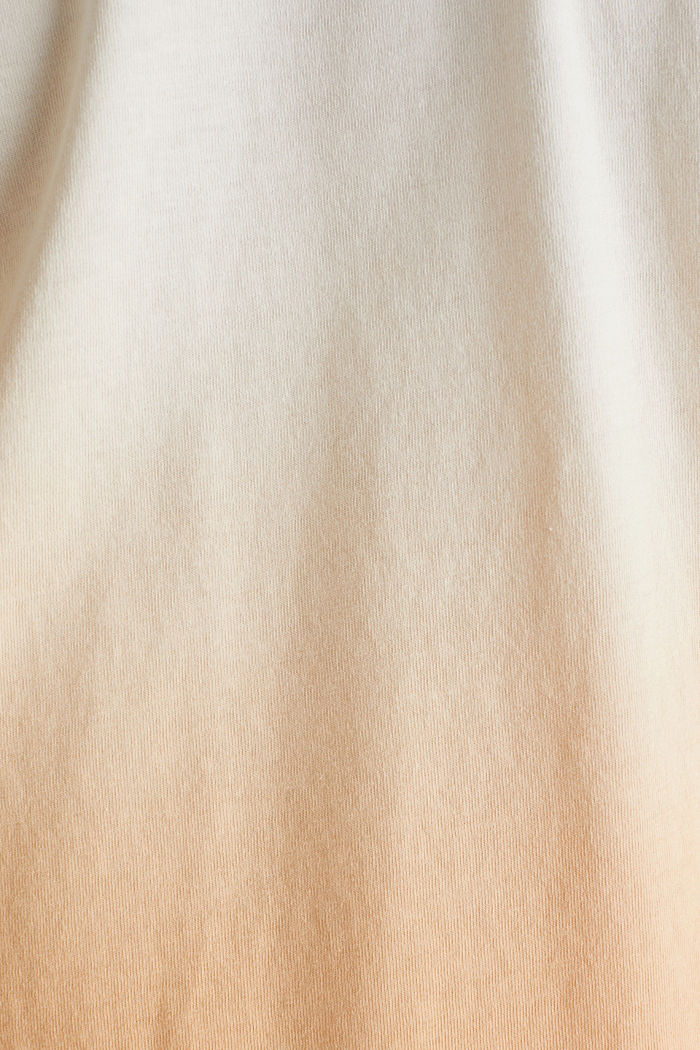 Jersey T-shirt with graduated colours, 100% cotton, PEACH, detail image number 3