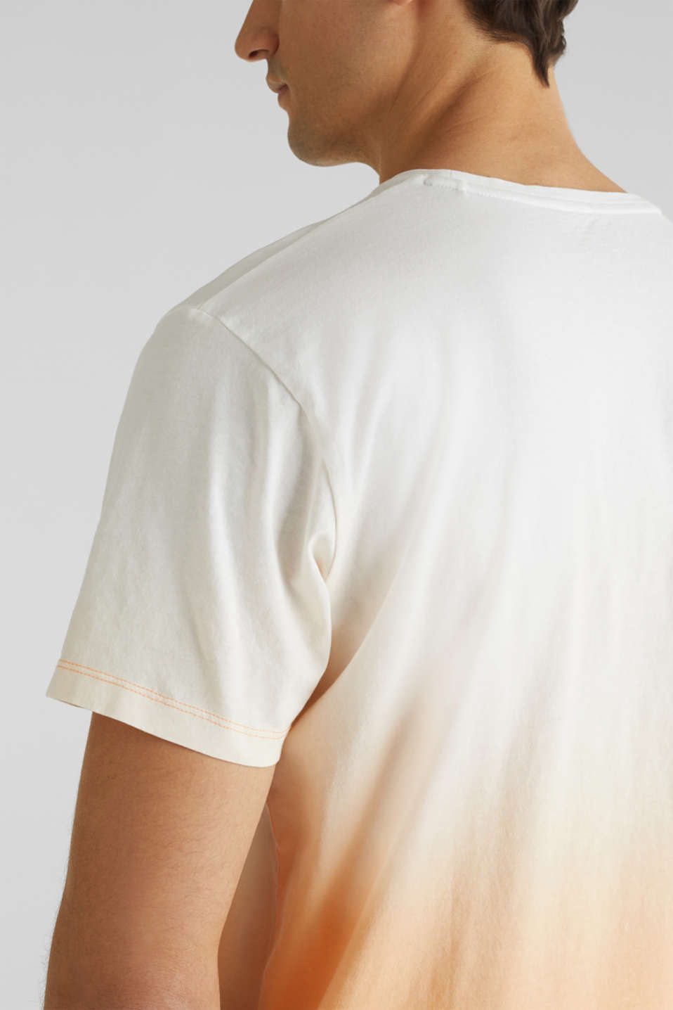 Jersey T-shirt with graduated colours, 100% cotton, PEACH 2, detail image number 5