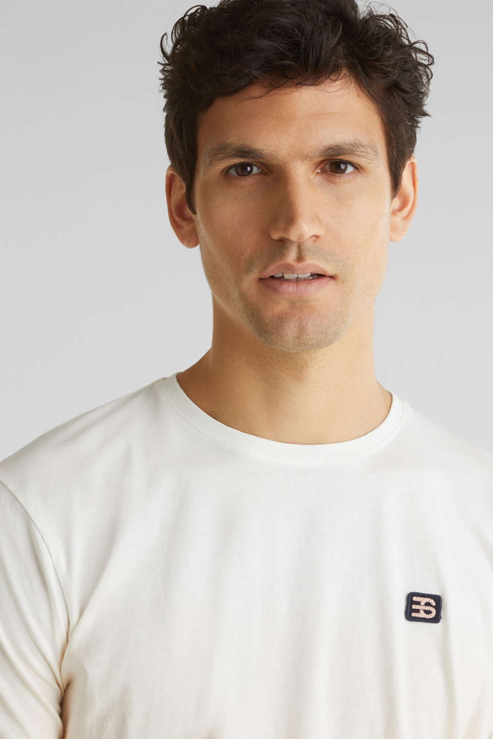 Jersey T-shirt with graduated colours, 100% cotton, PEACH 2, detail image number 4