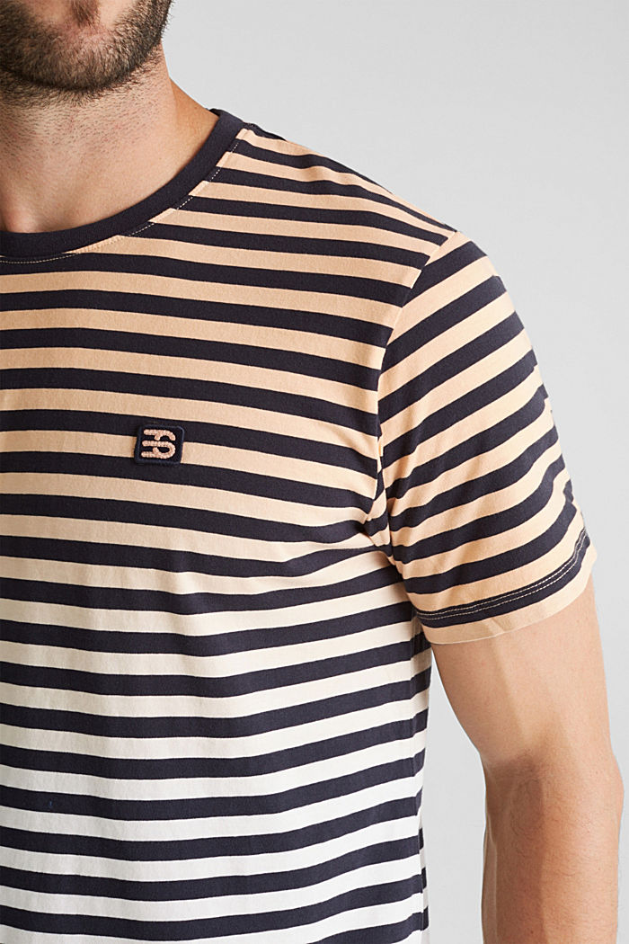 Jersey-Shirt aus 100% Baumwolle, PEACH, detail image number 1