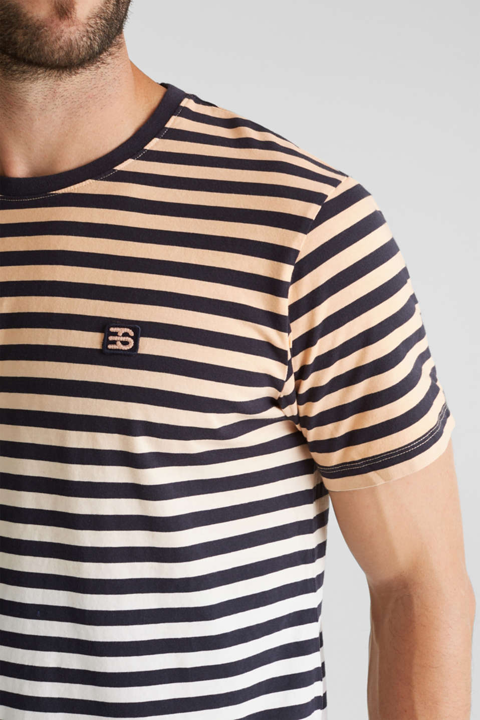 Jersey T-shirt in 100% cotton, PEACH 3, detail image number 1
