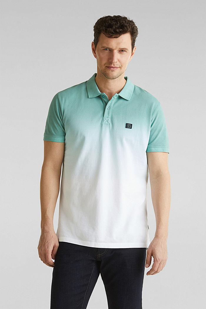 Piqué polo shirt with colour graduation