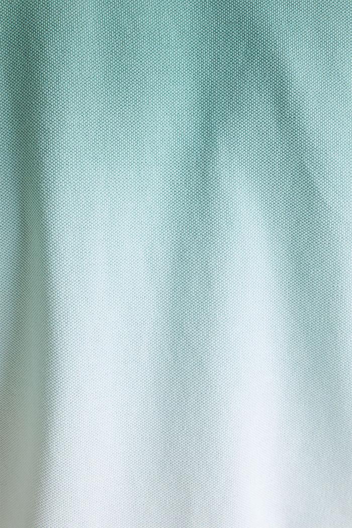 Piqué poloshirt met kleurverloop, TEAL GREEN, detail image number 4
