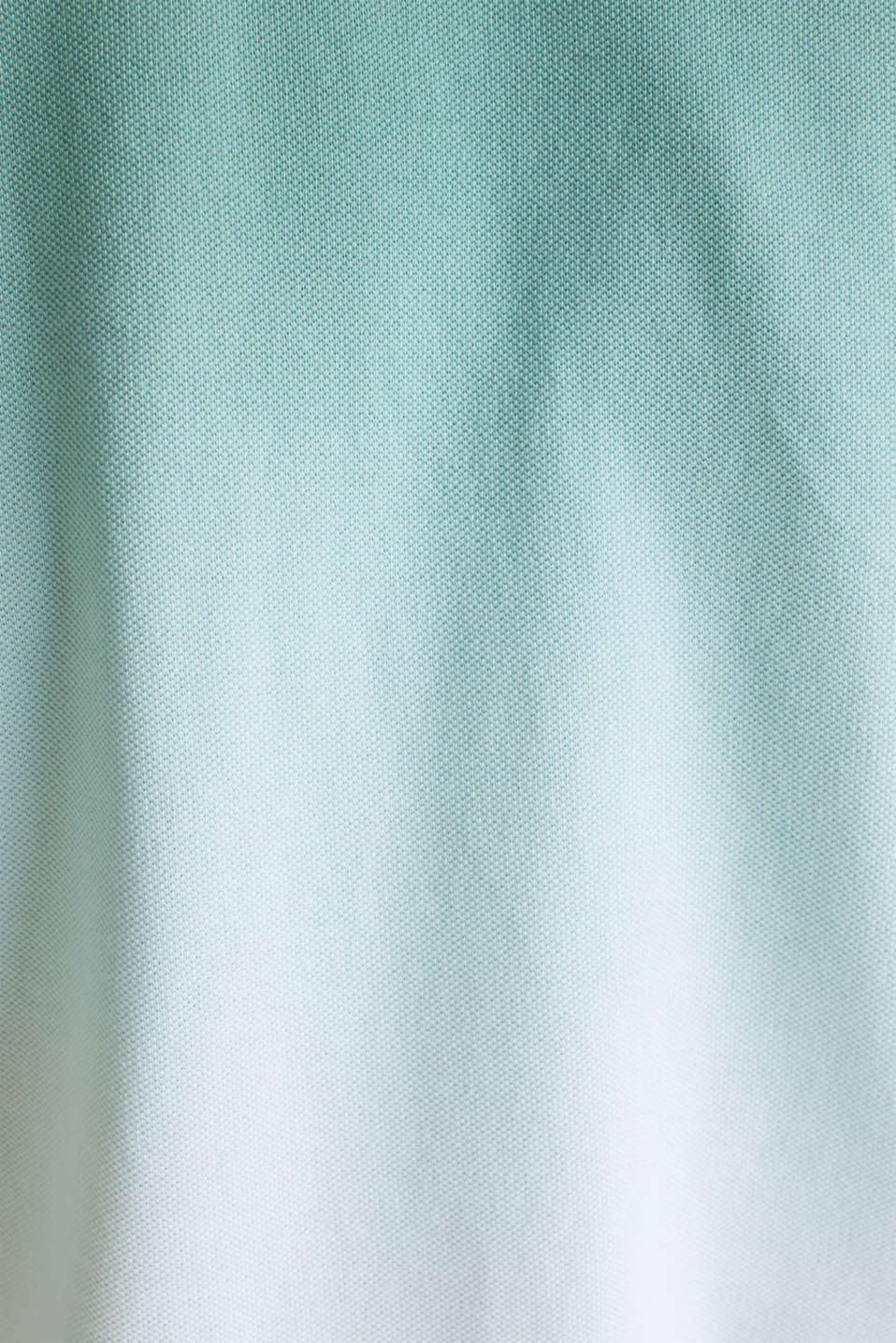 Piqué polo shirt with colour graduation, TEAL GREEN 2, detail image number 4