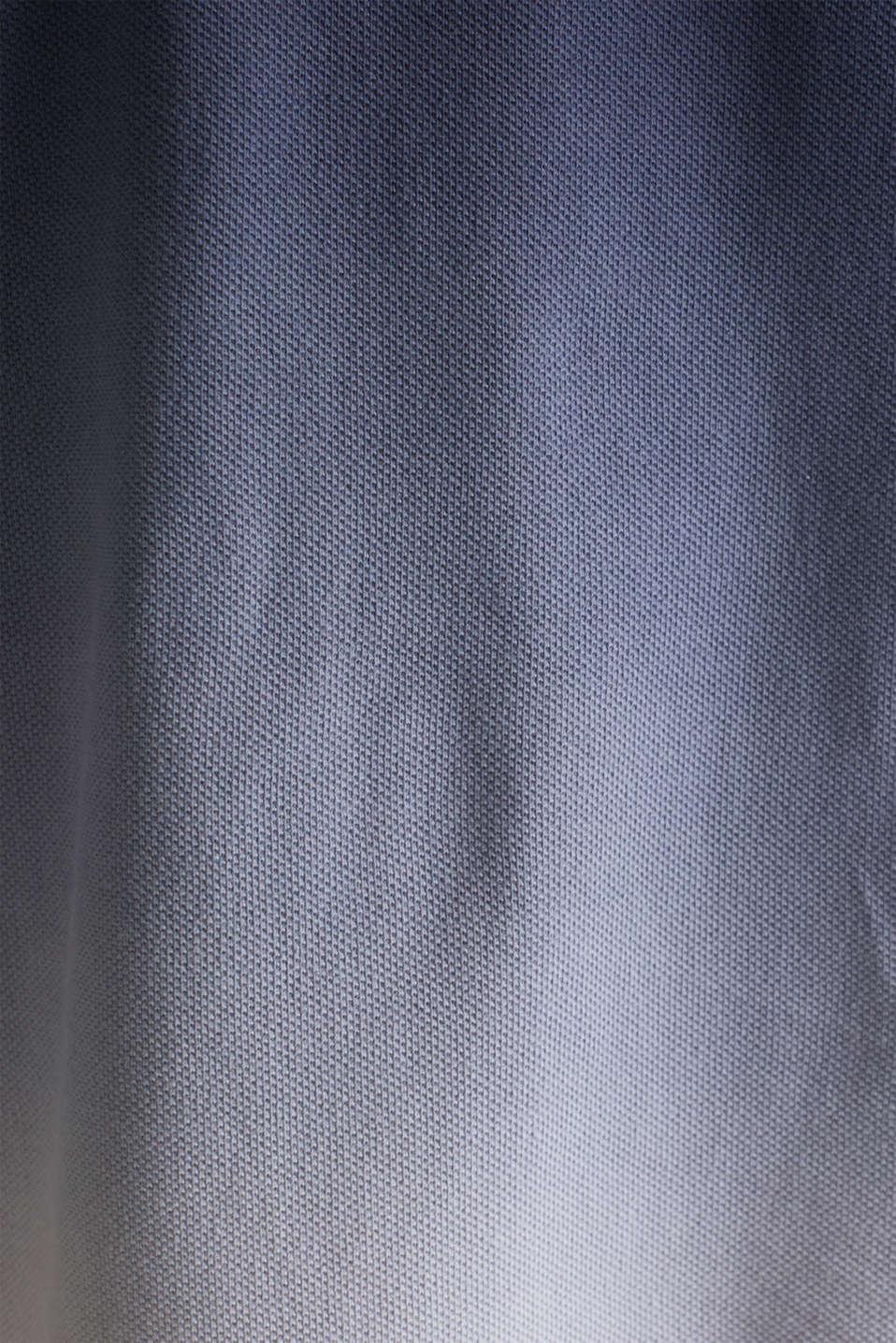 Piqué polo shirt with colour graduation, NAVY 2, detail image number 4