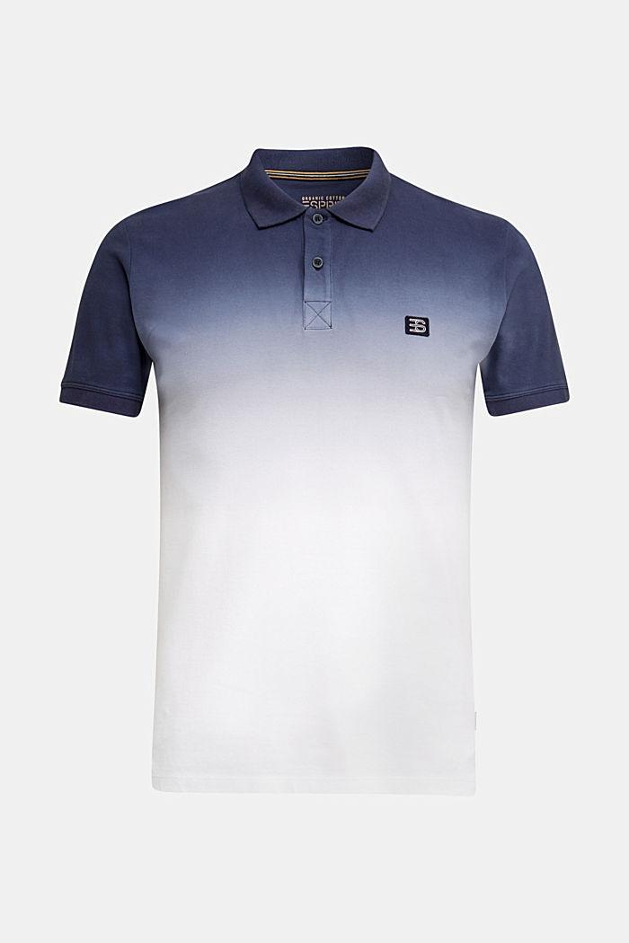 Piqué polo shirt with colour graduation, NAVY, detail image number 0