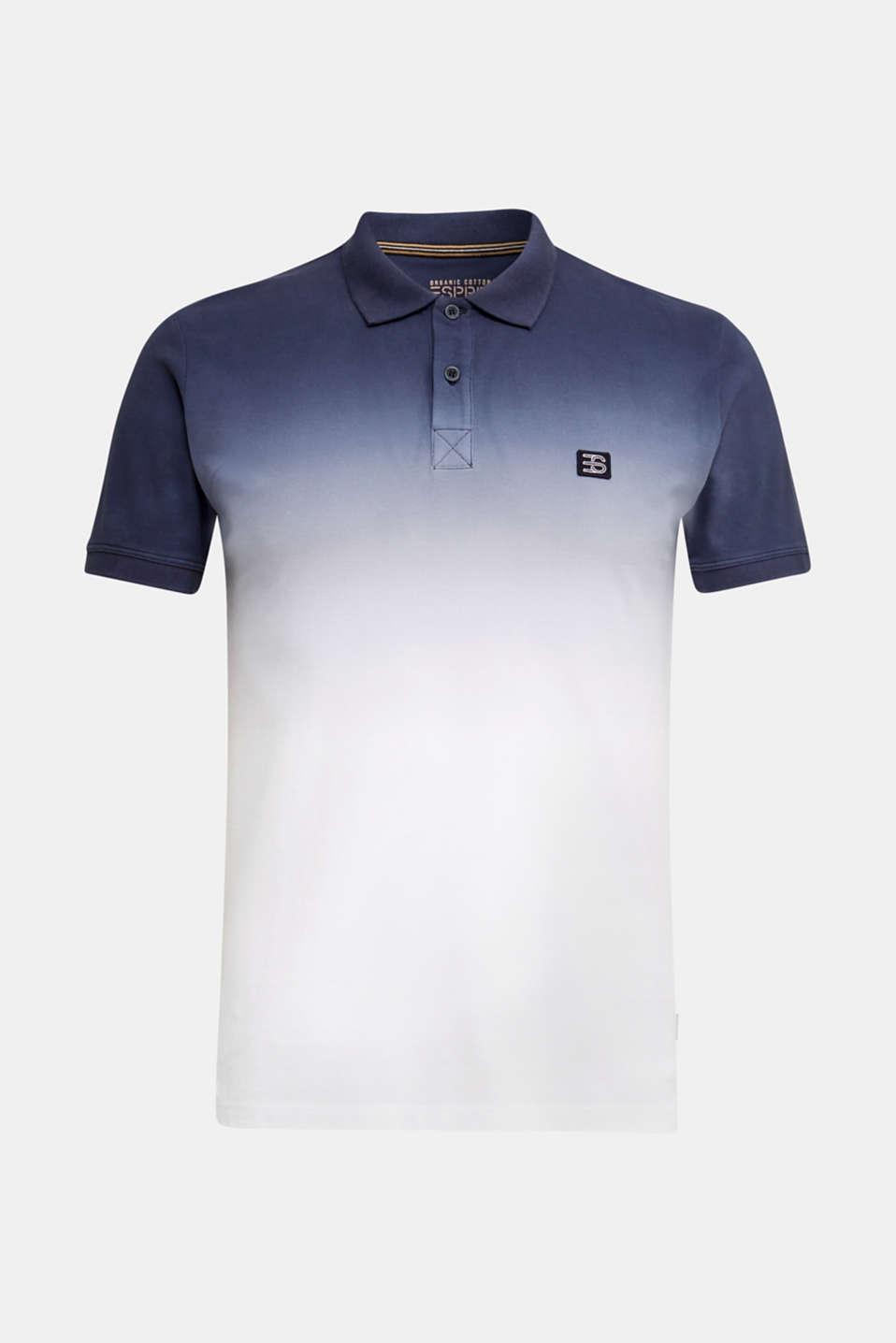Piqué polo shirt with colour graduation, NAVY 2, detail image number 6