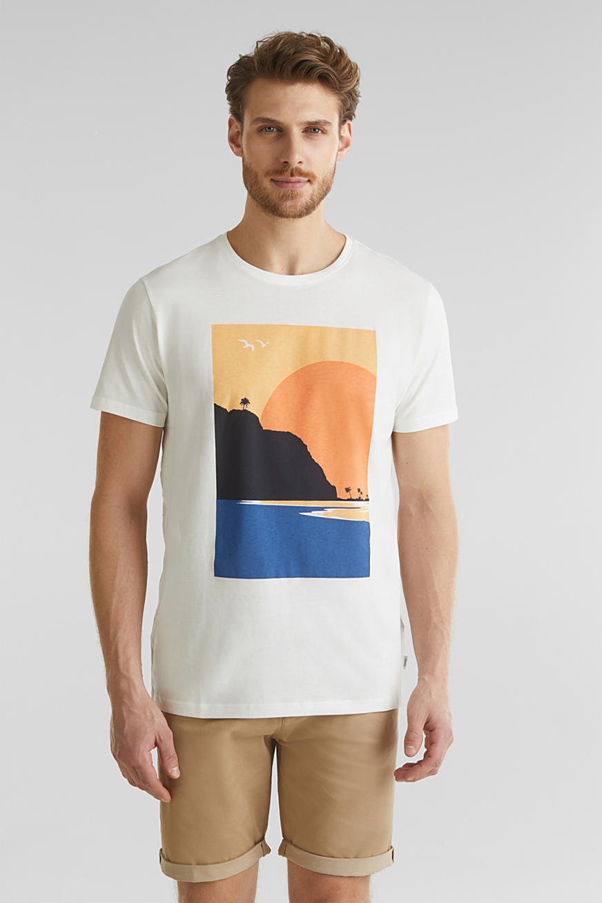 Printed T-shirt in 100% organic cotton