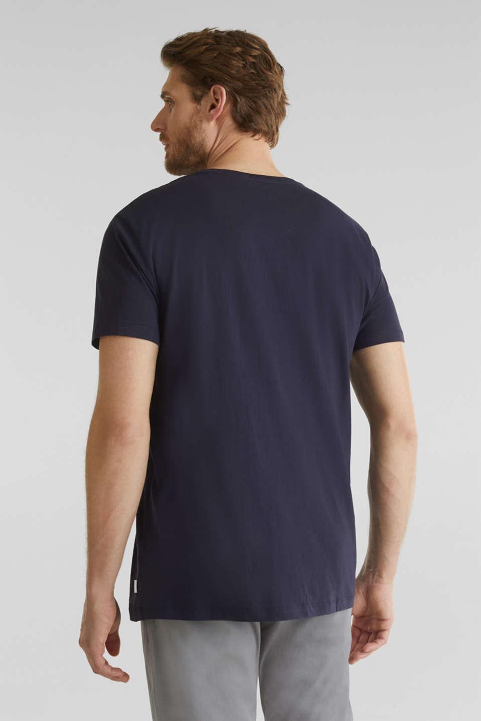 Printed T-shirt in 100% organic cotton, NAVY, detail image number 3