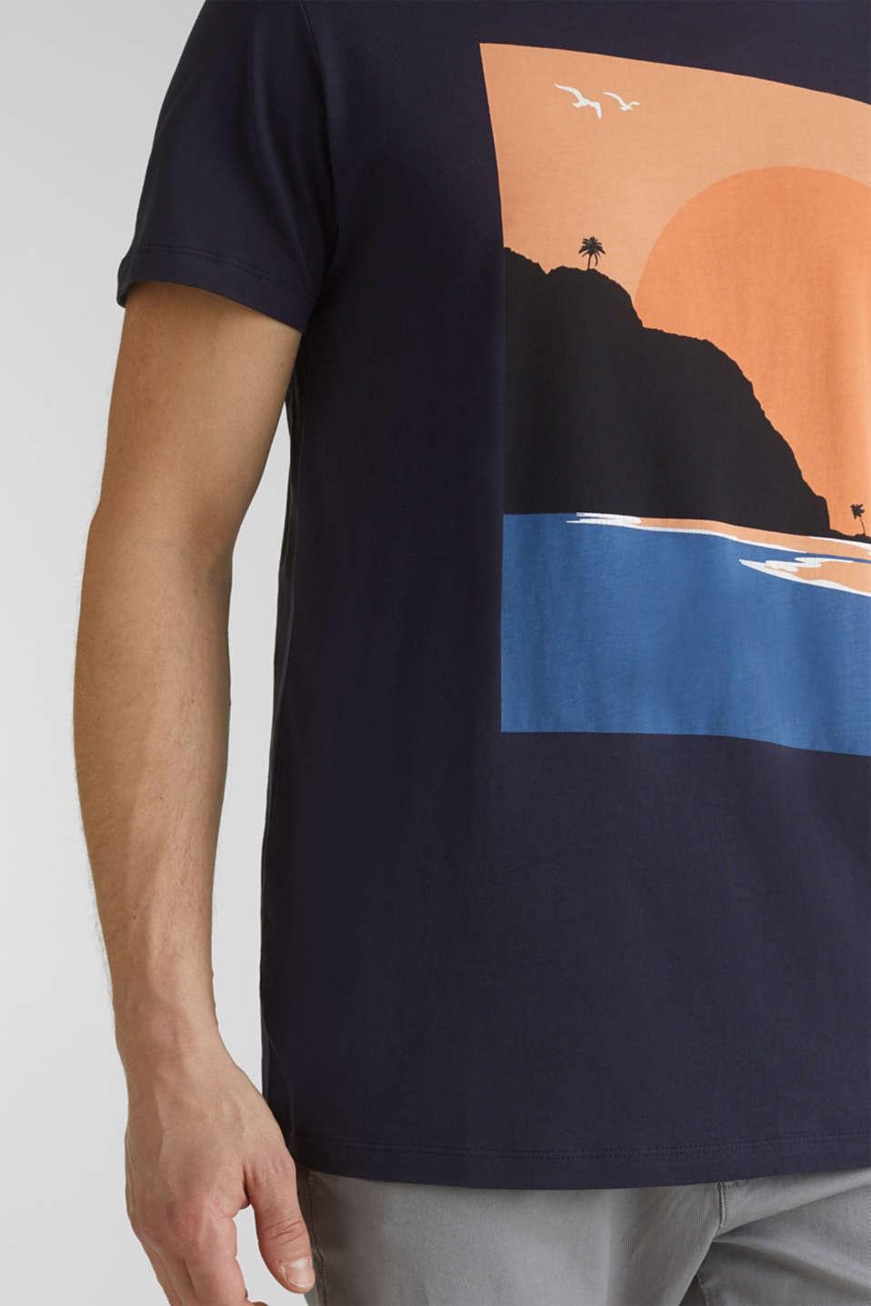 Printed T-shirt in 100% organic cotton, NAVY, detail image number 5