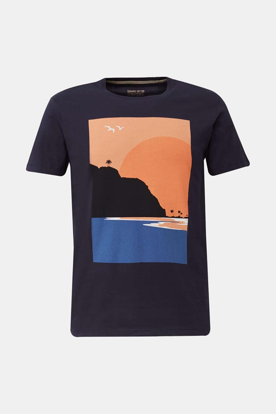 Printed T-shirt in 100% organic cotton, NAVY, detail image number 6