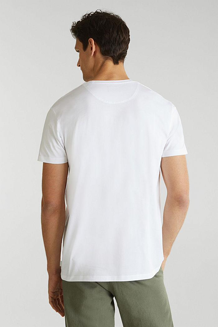 Jersey T-shirt in 100% cotton, WHITE, detail image number 2
