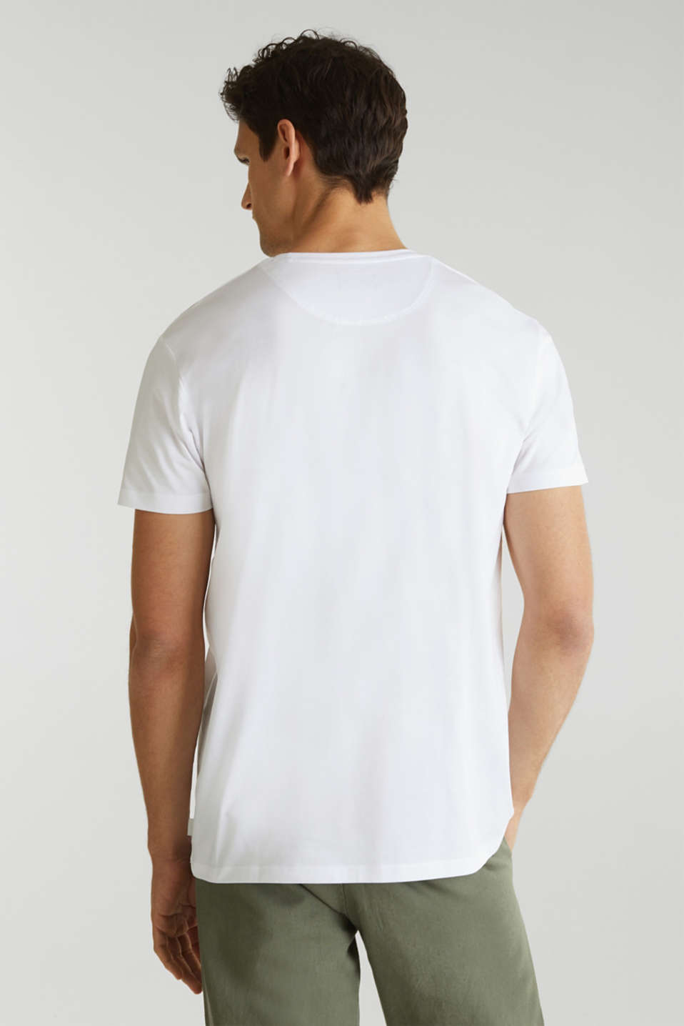 Jersey T-shirt in 100% cotton, WHITE 4, detail image number 2