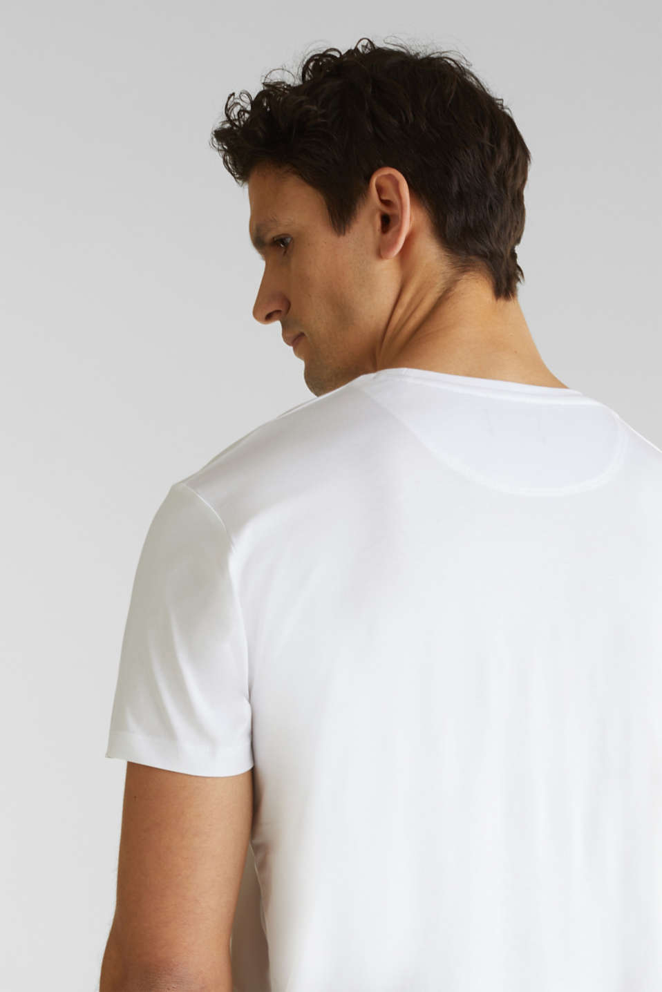 Jersey T-shirt in 100% cotton, WHITE 4, detail image number 5