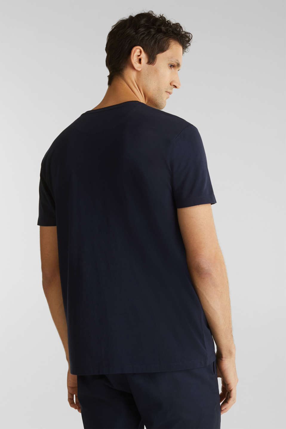 Jersey T-shirt in 100% cotton, NAVY 4, detail image number 3