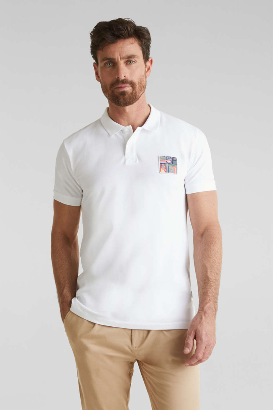 Esprit - Piqué polo shirt in 100% organic cotton