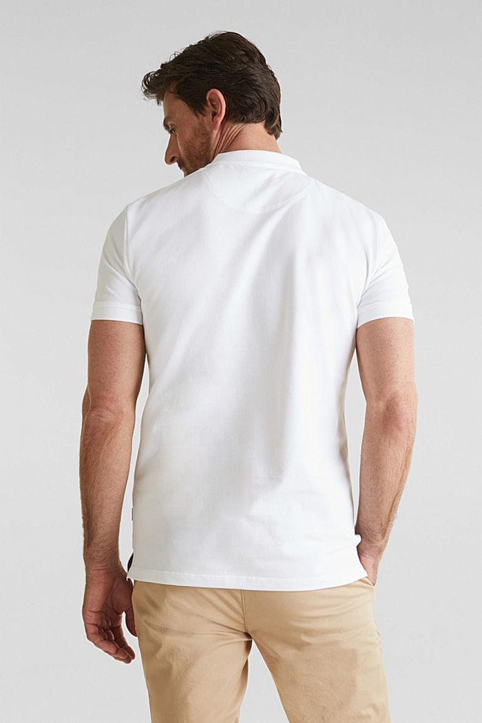 Piqué-Poloshirt aus 100% Bio-Baumwolle, WHITE, detail image number 3