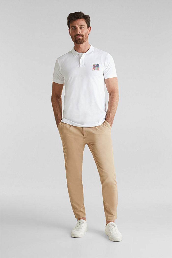 Piqué-Poloshirt aus 100% Bio-Baumwolle, WHITE, detail image number 2