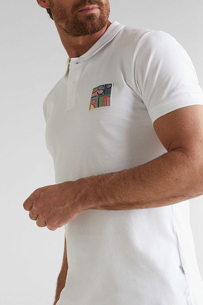 Piqué-Poloshirt aus 100% Bio-Baumwolle, WHITE, detail image number 1