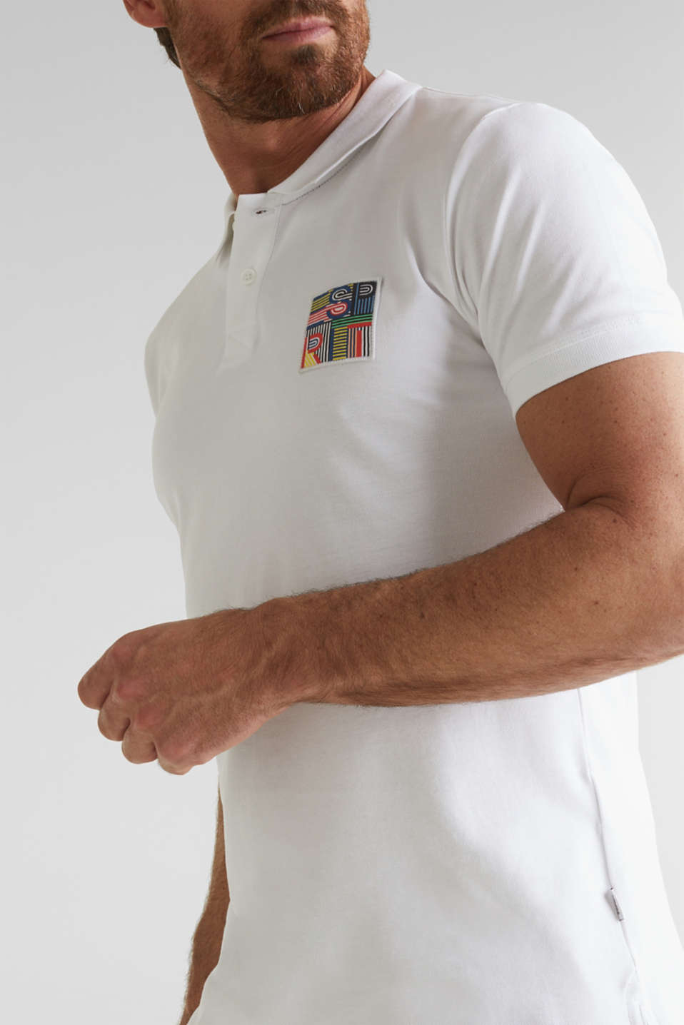 Piqué polo shirt in 100% organic cotton, WHITE, detail image number 1