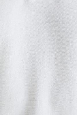 Piqué polo shirt in 100% organic cotton, WHITE, detail