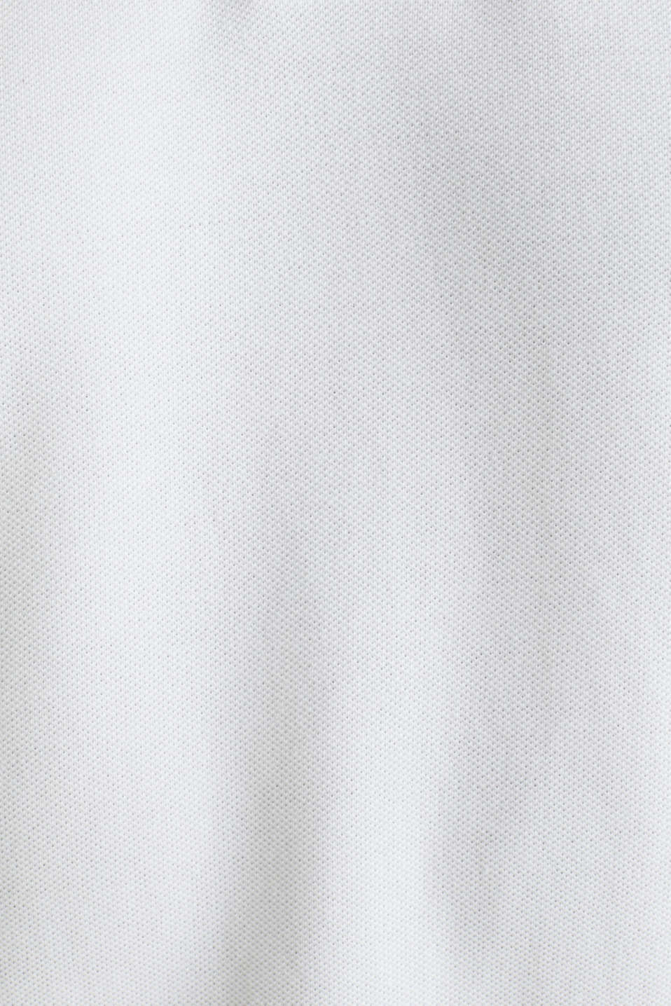 Piqué polo shirt in 100% organic cotton, WHITE, detail image number 4