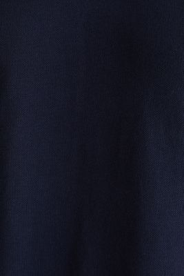 Piqué polo shirt in 100% organic cotton, NAVY, detail