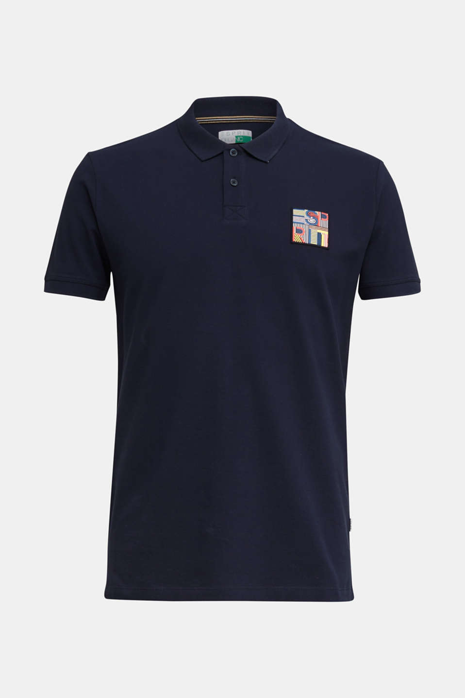 Piqué polo shirt in 100% organic cotton, NAVY, detail image number 6
