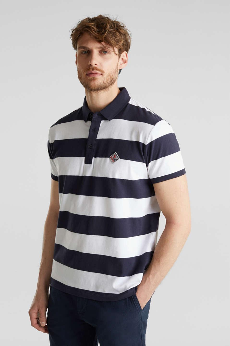 Jersey blouse, 100% organic cotton, NAVY 3, detail image number 0