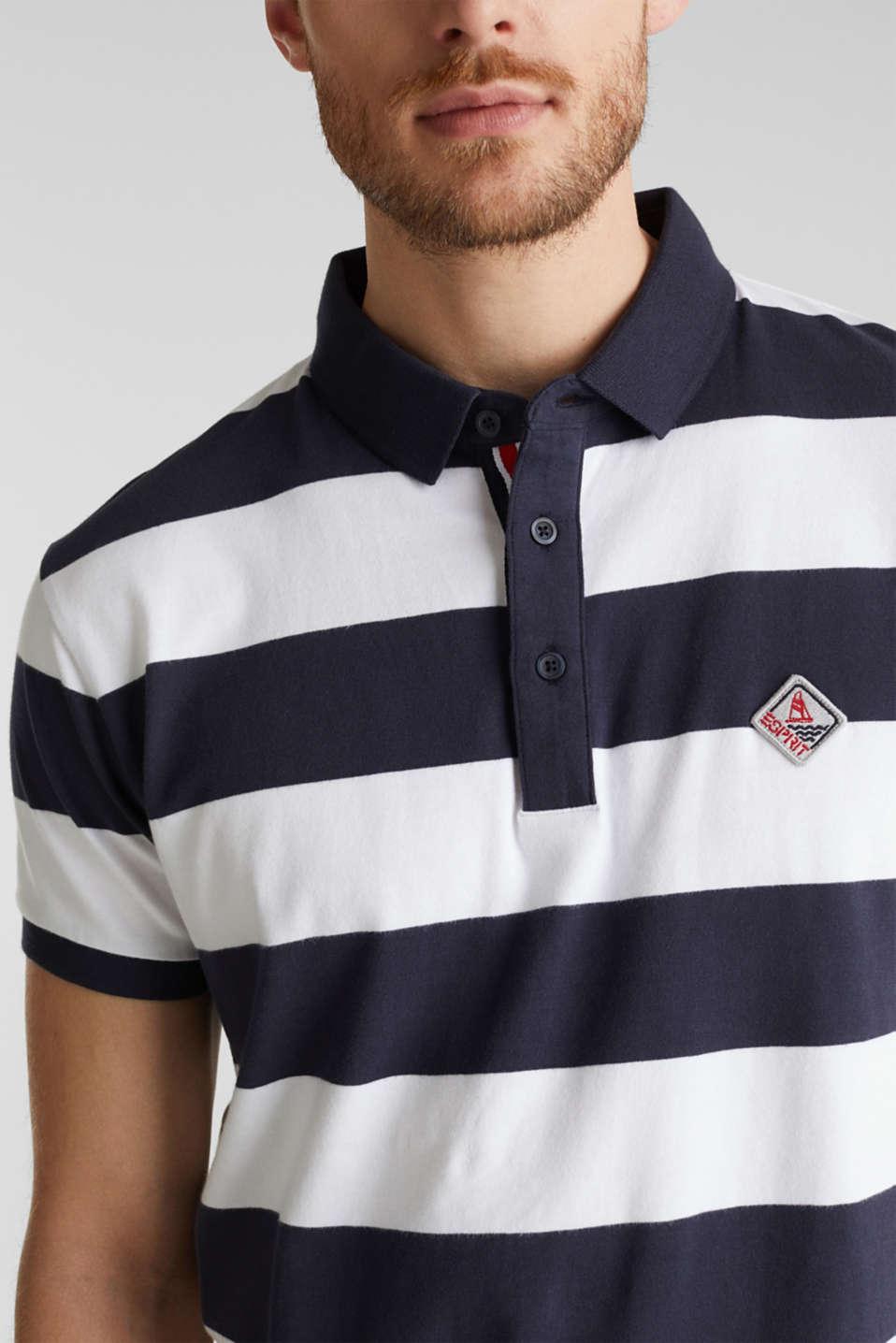 Jersey blouse, 100% organic cotton, NAVY 3, detail image number 1