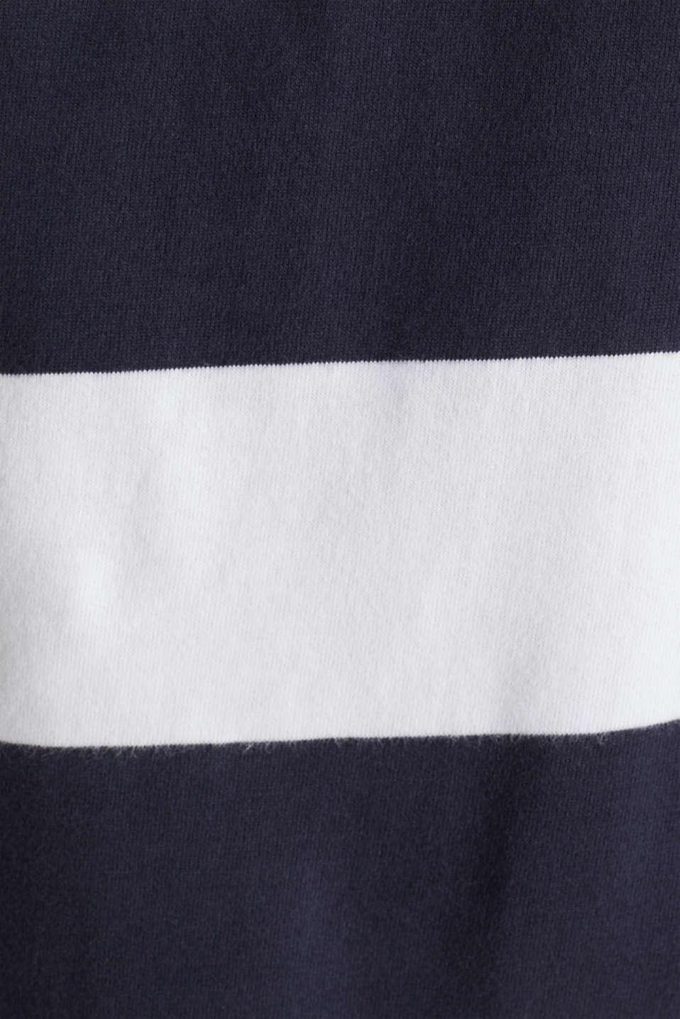 Jersey blouse, 100% organic cotton, NAVY 3, detail image number 4