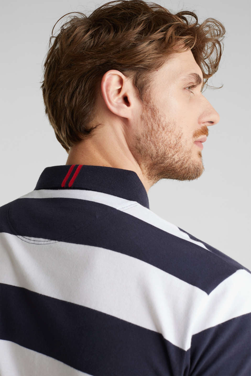 Jersey blouse, 100% organic cotton, NAVY 3, detail image number 6