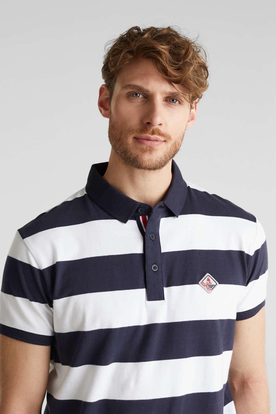 Jersey blouse, 100% organic cotton, NAVY 3, detail image number 5