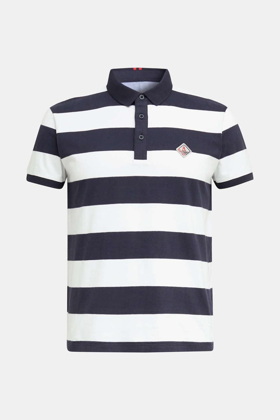Jersey blouse, 100% organic cotton, NAVY 3, detail image number 7