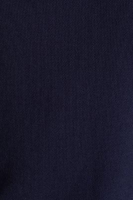Stretch cotton piqué polo shirt, NAVY, detail