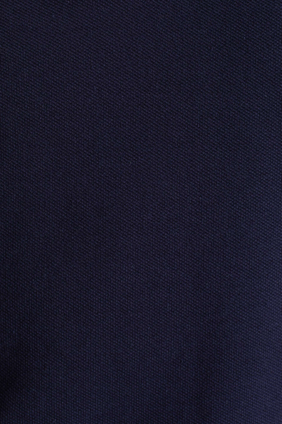 Stretch cotton piqué polo shirt, NAVY, detail image number 5