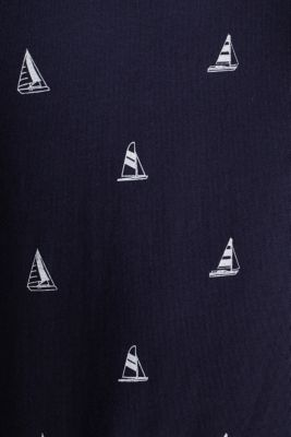 Jersey polo shirt in 100% cotton, NAVY 4, detail