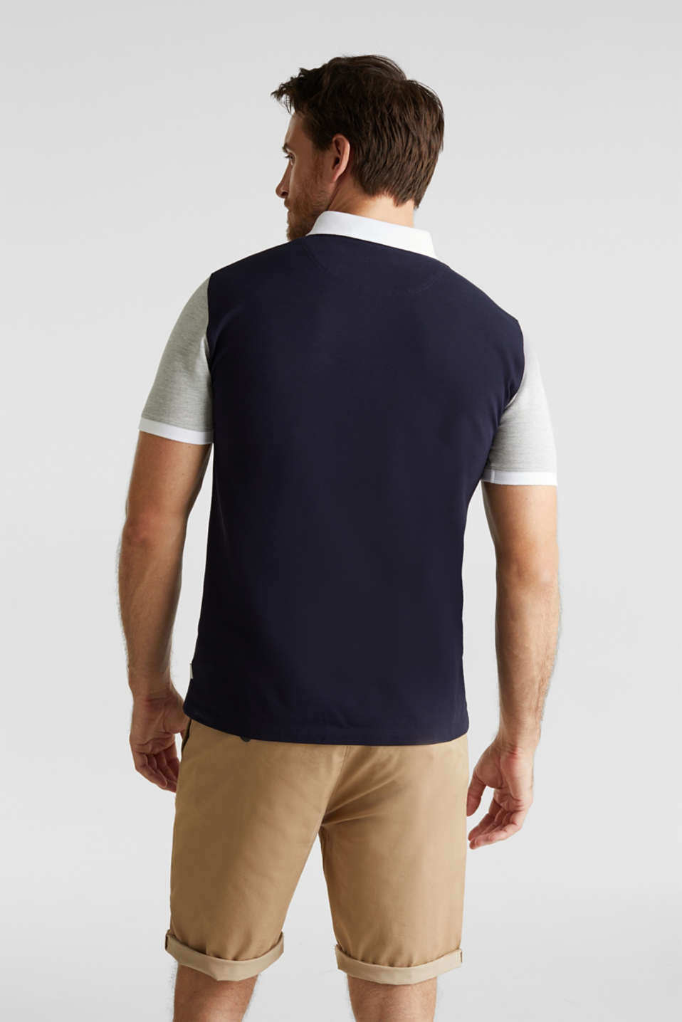 Piqué polo shirt with organic cotton, NAVY 2, detail image number 3