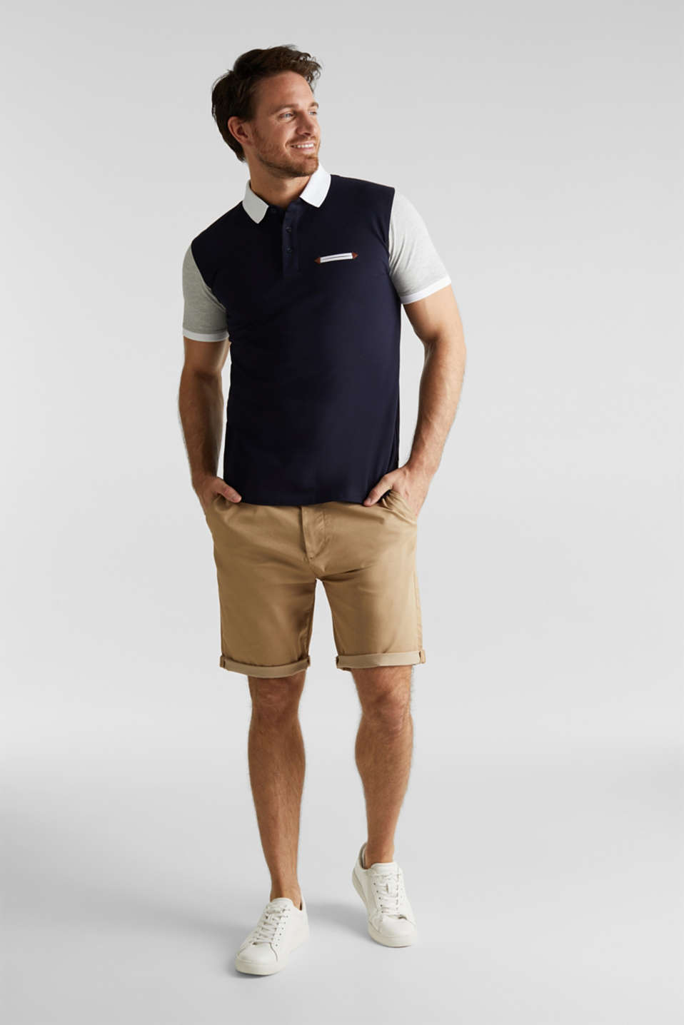 Piqué polo shirt with organic cotton, NAVY 2, detail image number 2