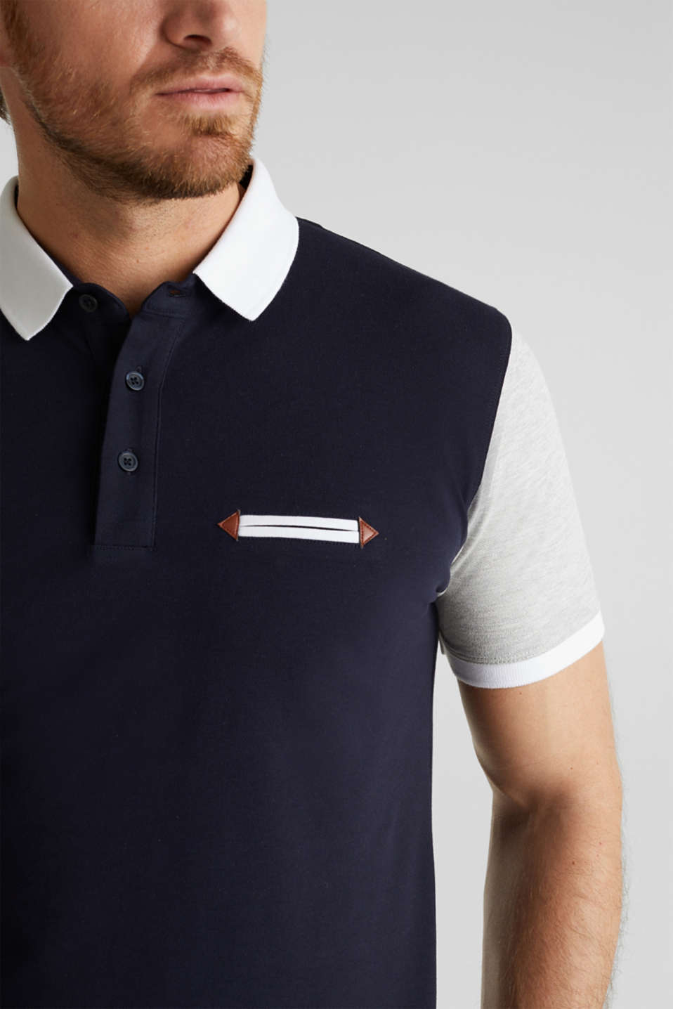 Piqué polo shirt with organic cotton, NAVY 2, detail image number 1