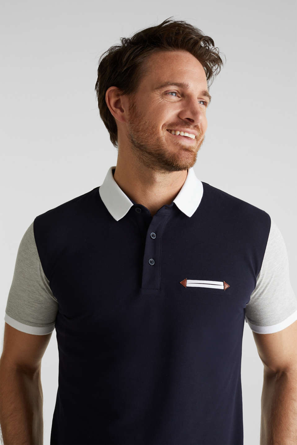 Piqué polo shirt with organic cotton, NAVY 2, detail image number 4